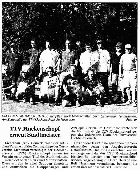 TTV Muckenschopf erneut Stadtmeister