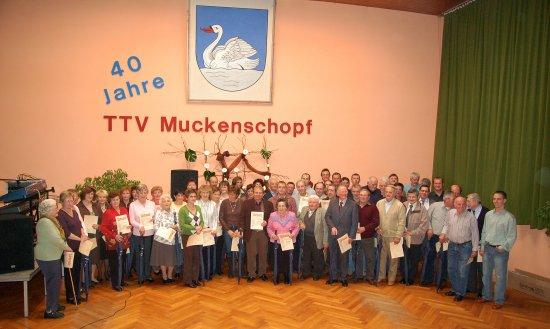 40. Geburtstag des TTV Muckenschopf – Wo sind all die Jahre hin…