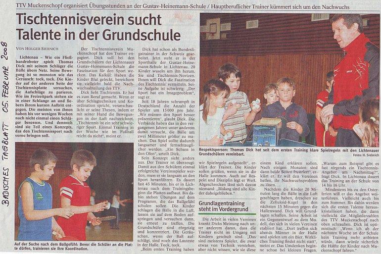 Tischtennisverein sucht Talente in der Grundschule