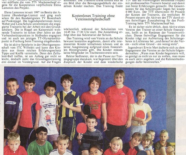 Bundesliga-Trainerin in der Schule