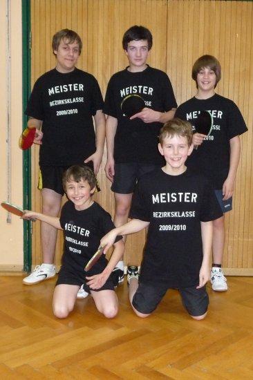 Jungen beenden Saison ungeschlagen und werden Meister in der Bezirksklasse