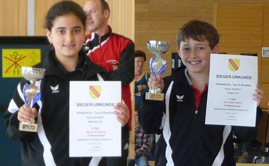 Ragaa El Bobbou und Tim Julian Oelze mit Podestplätzen beim SbTTV Top-16-Turnier