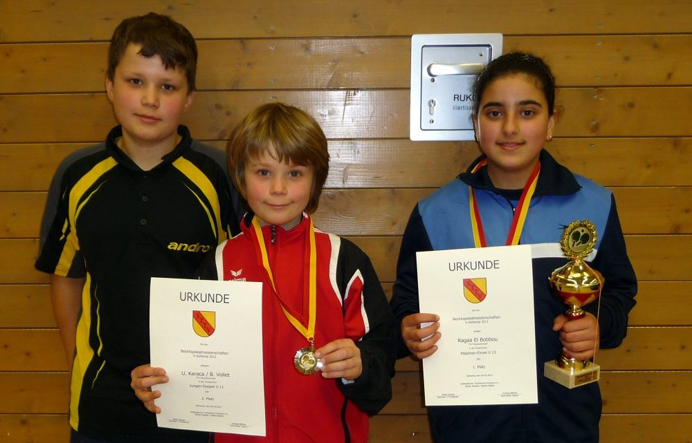Medaillenplätze für TTVM Nachwuchs bei den Bezirkspokalmeisterschaften