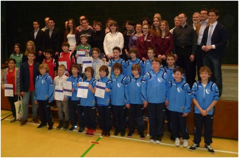 1. Sportlerehrung mit den Tischtennisspielern vom TTV Muckenschopf