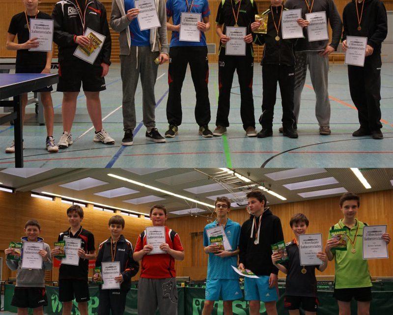 Gute Platzierungen bei den 12.Rastatter Stadtmeisterschaften für die Jugend des TTV Muckenschopf