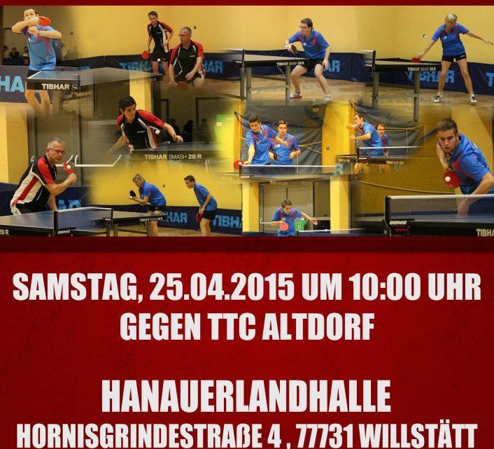 Relegationsspieltag der ersten Herrenmannschaft in Willstätt