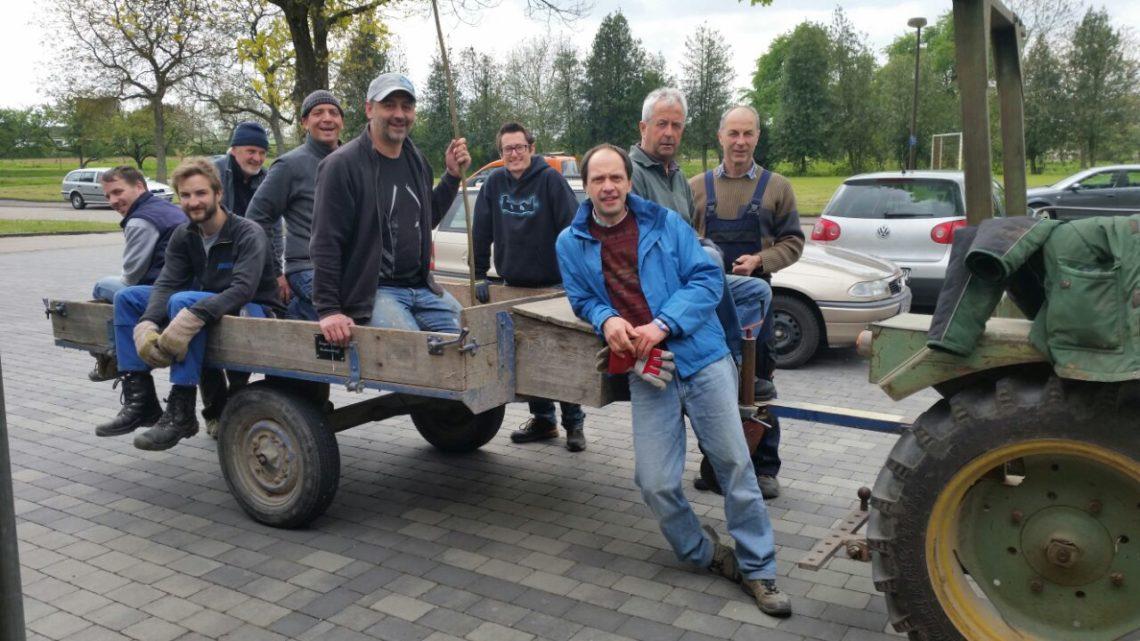 Aufbau für das Mai-Fest