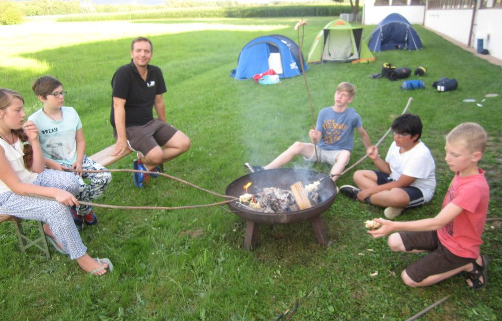 TTV Muckenschopf Jugend beim Zelten