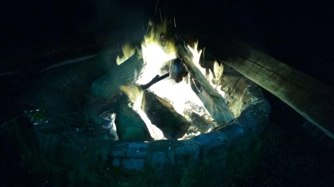 Lagerfeuer am Trimm-Dich-Pfad