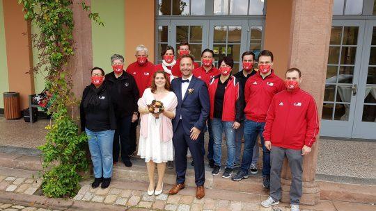 TTV'ler stehen Spalier bei Hochzeit von Wolfgang & Rebecca